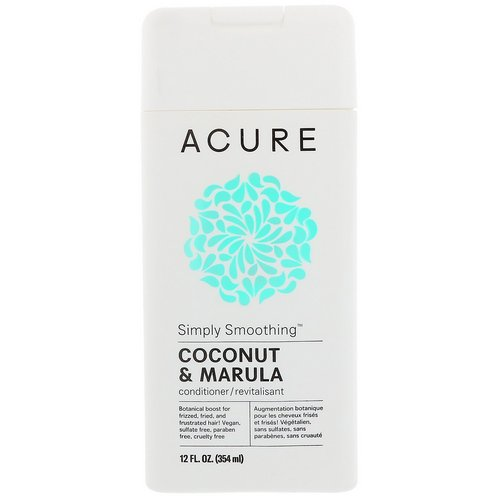 Acure, Simply Smoothing Conditioner, Coconut & Marula, 12 fl oz (354 ml) فوائد