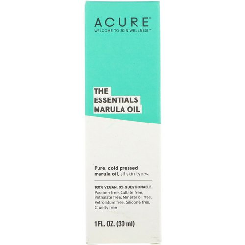 Acure, The Essentials Marula Oil, 1 fl oz (30 ml) فوائد