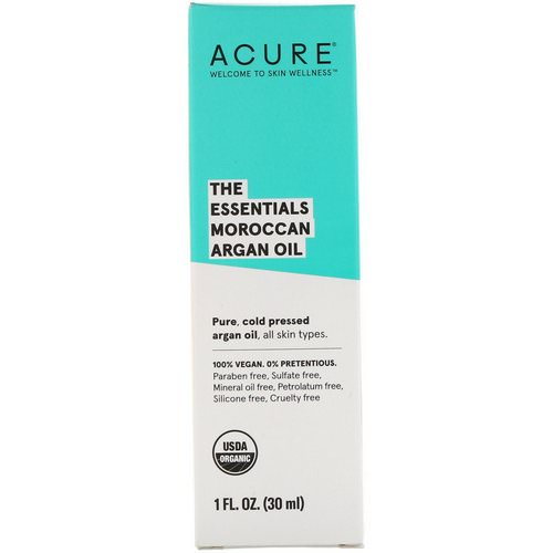Acure, The Essentials Moroccan Argan Oil, 1 fl oz (30 ml) فوائد