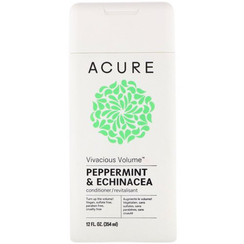 Acure, Vivacious Volume Conditioner, Peppermint & Echinacea, 12 fl oz (354 ml) فوائد