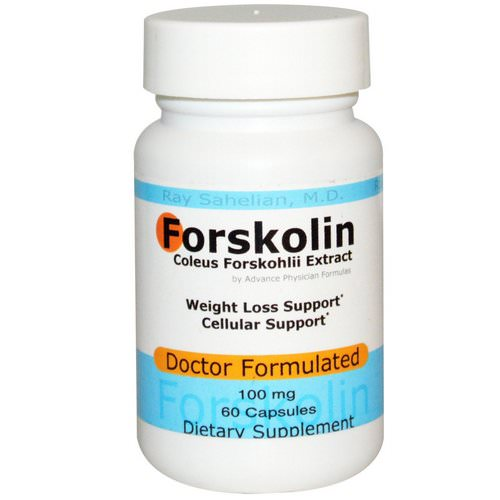Advance Physician Formulas, Forskolin, Coleus Forskohlii Extract, 100 mg, 60 Capsules فوائد
