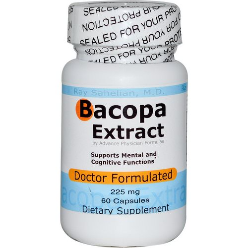 Advance Physician Formulas, Bacopa Extract, 225 mg, 60 Capsules فوائد