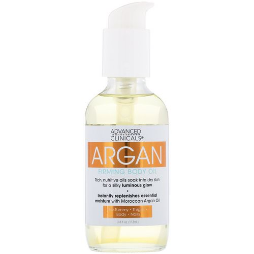 Advanced Clinicals, Argan, Firming Body Oil, 3.8 fl oz (112 ml) فوائد