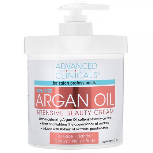 Advanced Clinicals, Argan Oil, Intensive Beauty Cream, 16 oz (454 g) فوائد