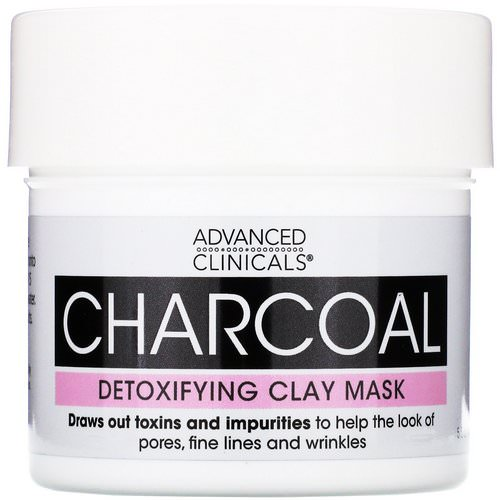 Advanced Clinicals, Charcoal, Detoxifying Clay Mask, 5.5 oz (156 g) فوائد