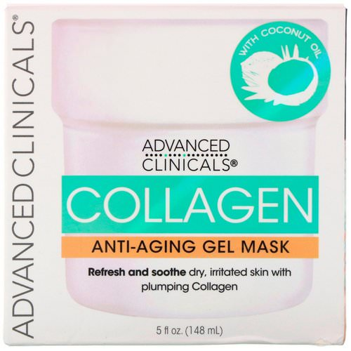 Advanced Clinicals, Collagen, Anti-Aging Gel Mask, 5 fl oz (148 ml) فوائد