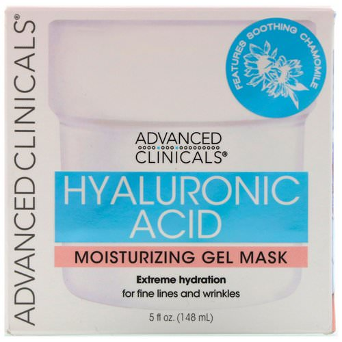 Advanced Clinicals, Hyaluronic Acid, Moisturizing Gel Mask, 5 fl oz (148 ml) فوائد