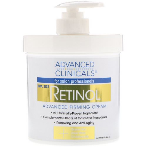 Advanced Clinicals, Retinol, Advanced Firming Cream, 16 oz (454 g) فوائد