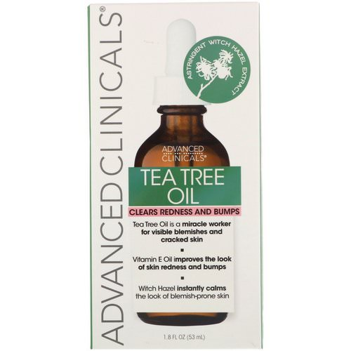 Advanced Clinicals, Tea Tree Oil, 1.8 fl oz (53 ml) فوائد