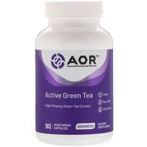 Advanced Orthomolecular Research AOR, Active Green Tea, 90 Vegetarian Capsules فوائد