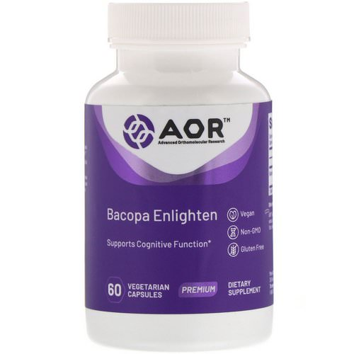 Advanced Orthomolecular Research AOR, Bacopa Enlighten, 60 Vegetarian Capsules فوائد