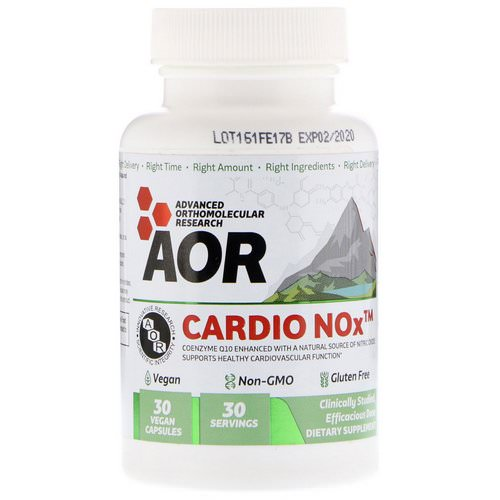 Advanced Orthomolecular Research AOR, Cardio Nox, 30 Vegan Capsules فوائد