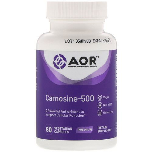 Advanced Orthomolecular Research AOR, Carnosine-500, 60 Vegetarian Capsules فوائد