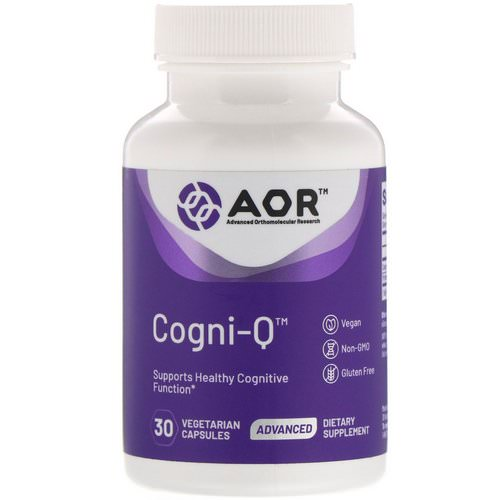 Advanced Orthomolecular Research AOR, Cogni-Q, 30 Vegetarian Capsules فوائد