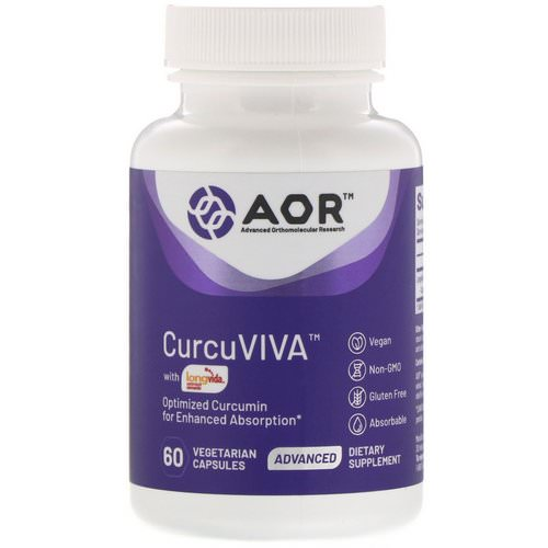 Advanced Orthomolecular Research AOR, Curcuviva, 60 Vegetarian Capsules فوائد