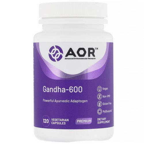 Advanced Orthomolecular Research AOR, Gandha-600, 120 Vegetarian Capsules فوائد