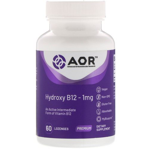Advanced Orthomolecular Research AOR, Hydroxy B12, 1 mg, 60 Lozenges فوائد