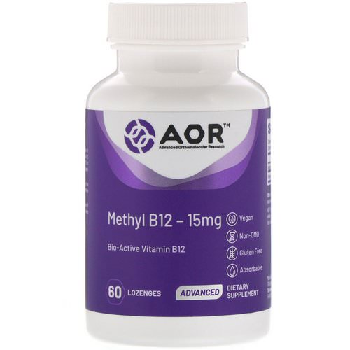 Advanced Orthomolecular Research AOR, Methyl B12, 15 mg, 60 Lozenges فوائد