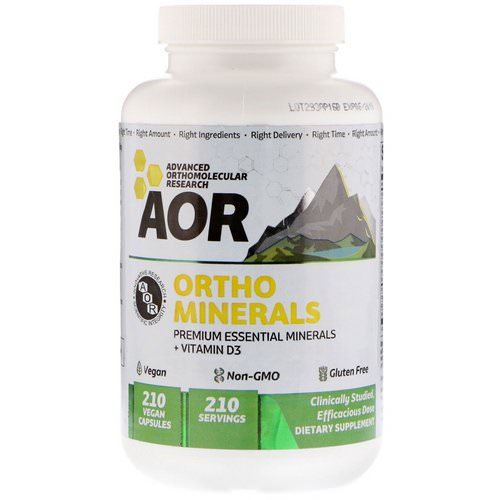 Advanced Orthomolecular Research AOR, Ortho Minerals, 210 Vegan Capsules فوائد