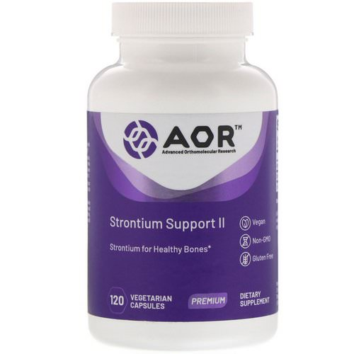 Advanced Orthomolecular Research AOR, Strontium Support II, 120 Vegetarian Capsules فوائد