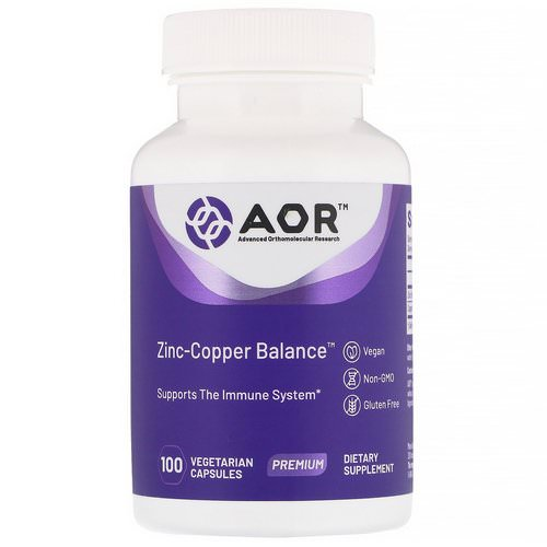 Advanced Orthomolecular Research AOR, Zinc-Copper Balance, 100 Vegetarian Capsules فوائد