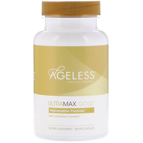 Ageless Foundation Laboratories, UltraMax Gold with AlphaNeuro Complex, 90 Veg Capsules فوائد