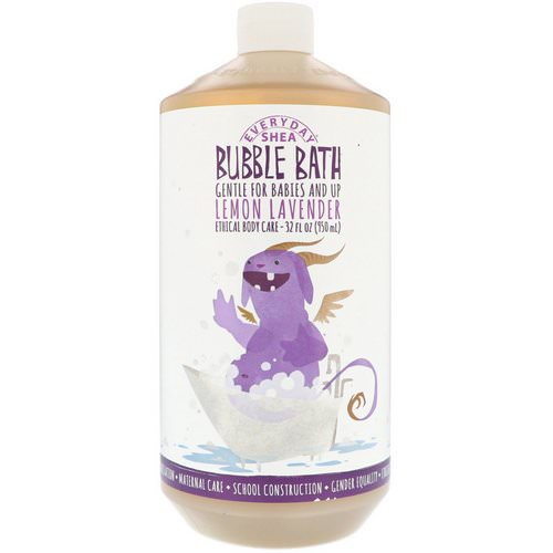 Alaffia, Everyday Shea, Bubble Bath, Babies & Kids, Lemon Lavender, 32 fl oz (950 ml) فوائد