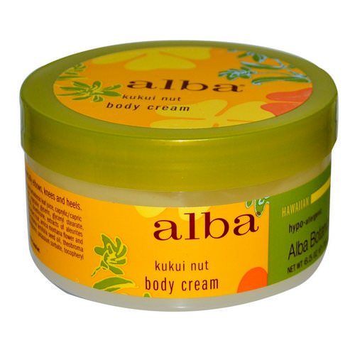 Alba Botanica, Body Cream, Kukui Nut, 6.5 oz (180 g) فوائد