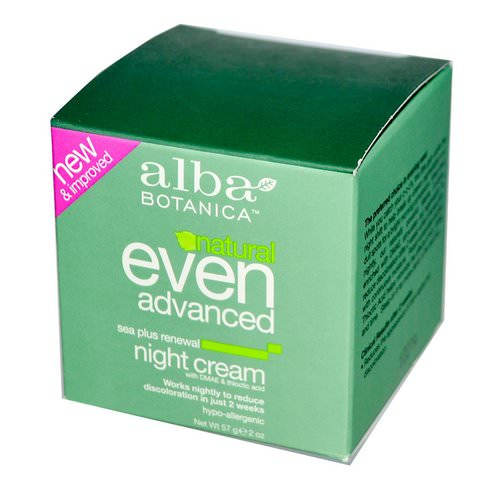Alba Botanica, Natural Even Advanced, Renewal Night Cream, Sea Plus, 2 oz (57 g) فوائد