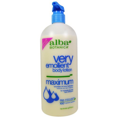 Alba Botanica, Very Emollient, Body Lotion, Maximum Dry Skin Formula, 32 oz (907 g) فوائد