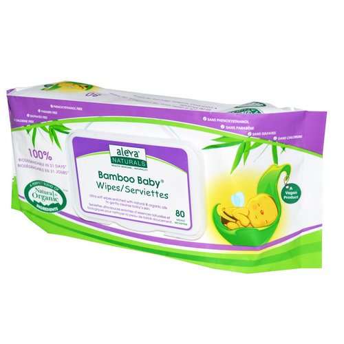 Aleva Naturals, Bamboo Baby Wipes, 80 Wipes فوائد