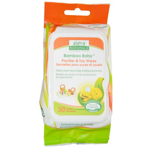Aleva Naturals, Bamboo Baby Wipes, Pacifier & Toy, 30 Wipes فوائد