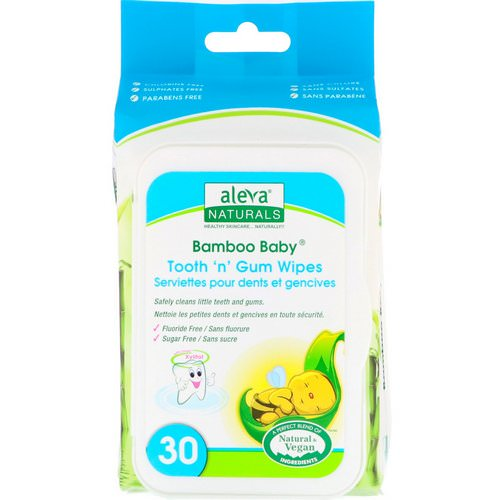 Aleva Naturals, Bamboo Baby Wipes, Tooth 'n' Gum, 30 Wipes فوائد