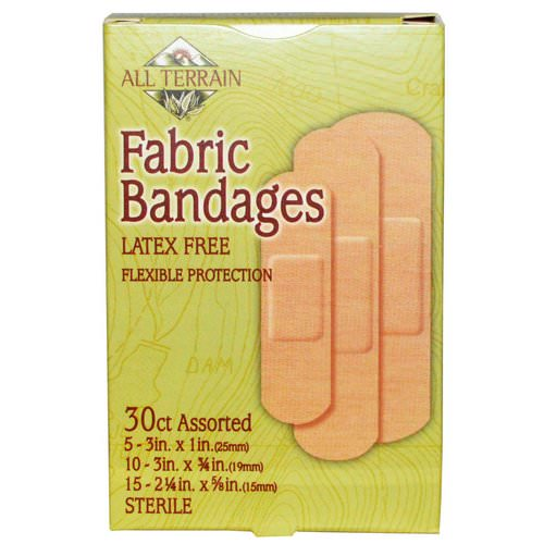 All Terrain, Fabric Bandages, Latex Free, Assorted, 30 Count فوائد