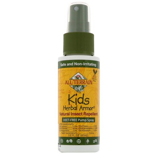 All Terrain, Kids Herbal Armor, Natural Insect Repellent, 2.0 fl oz (60 ml) فوائد