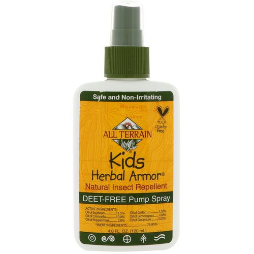 All Terrain, Kids Herbal Armor, Natural Insect Repellent, 4 fl oz (120 ml) فوائد
