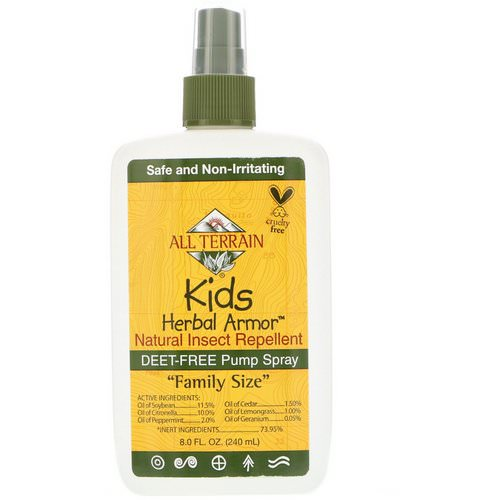 All Terrain, Kids Herbal Armor, Natural Insect Repellent, 8 fl oz (240 ml) فوائد