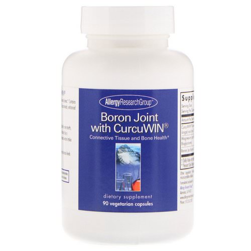 Allergy Research Group, Boron Joint with CurcuWin, 90 Vegetarian Capsules فوائد