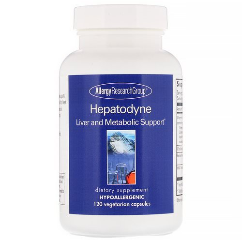 Allergy Research Group, Hepatodyne, Liver and Metabolic Support, 120 Vegetarian Capsules فوائد
