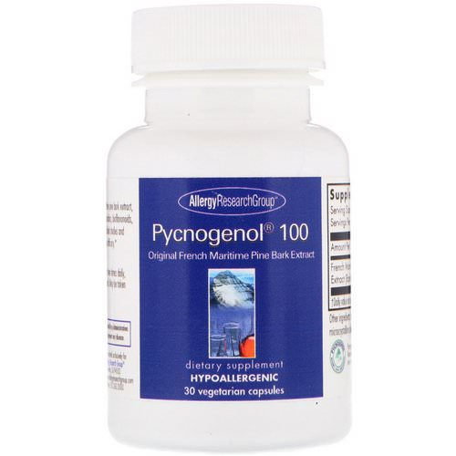 Allergy Research Group, Pycnogenol 100, 30 Vegetarian Capsules فوائد