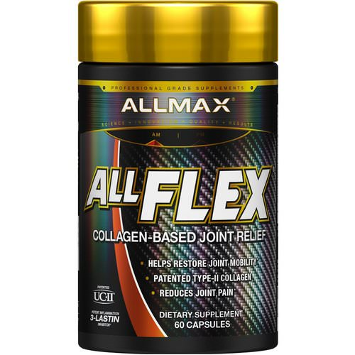 ALLMAX Nutrition, AllFlex, Collagen-Based Joint Relief, UC-II Collagen + Curcumin, 60 Capsules فوائد