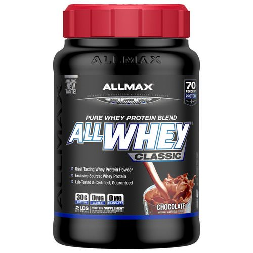 ALLMAX Nutrition, AllWhey Classic, 100% Whey Protein, Chocolate, 2 lbs (907 g) فوائد