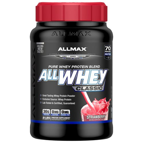 ALLMAX Nutrition, AllWhey Classic, 100% Whey Protein, Strawberry, 2 lbs (907 g) فوائد