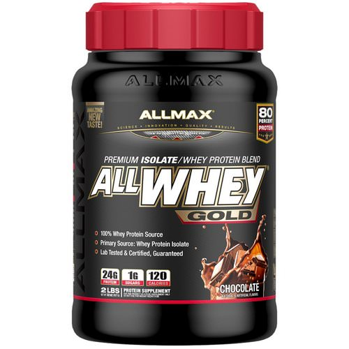 ALLMAX Nutrition, AllWhey Gold, 100% Whey Protein + Premium Whey Protein Isolate, Chocolate, 2 lbs (907 g) فوائد