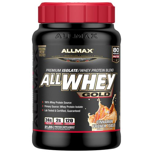 ALLMAX Nutrition, AllWhey Gold, 100% Whey Protein + Premium Whey Protein Isolate, Cinnamon French Toast, 2 lbs (907 g) فوائد