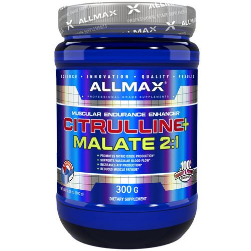 ALLMAX Nutrition, Citrulline Malate, Unflavored, (300 g) فوائد
