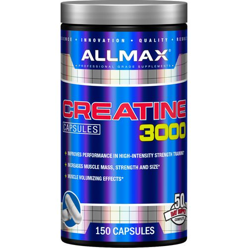 ALLMAX Nutrition, Creatine 3000mg, 150 Capsules فوائد