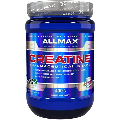 ALLMAX Nutrition, Creatine Powder, 100% Pure Micronized Creatine Monohydrate, Pharmaceutical Grade Creatine, 14.11 oz (400 g) فوائد