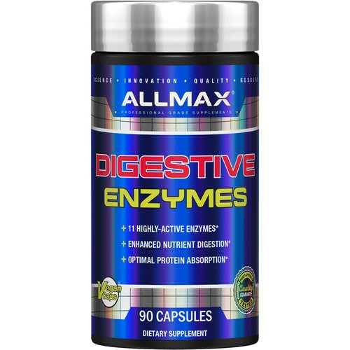 ALLMAX Nutrition, Digestive Enzymes + Protein Optimizer, 90 Capsules فوائد