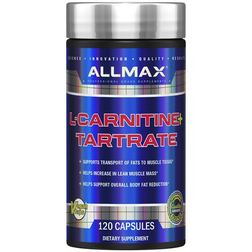 ALLMAX Nutrition, L-Carnitine Tartrate, High-Potency L-Carnitine, 1470 mg, 120 Veggie Caps فوائد